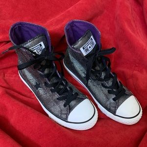 🐾 Converse 🐾 One Star Sparkly High Top Sneakers